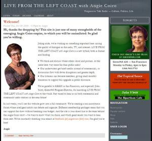 Live From The Left Coast radio show website