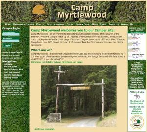 Camp Myrtlewood website