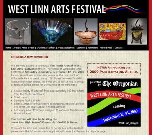 arts festival website